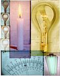 Collage of Light Elements    Stock Photo - Premium Rights-Managed, Artist: Tom Collicott, Code: 700-00162178