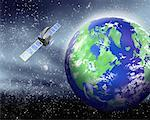 Satellite Orbiting Earth    Stock Photo - Premium Rights-Managed, Artist: Nora Good, Code: 700-00162361