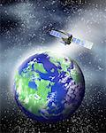 Satellite Orbiting Earth    Stock Photo - Premium Rights-Managed, Artist: Nora Good, Code: 700-00162362