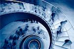People on Spiral Staircase    Stock Photo - Premium Rights-Managed, Artist: Roy Ooms, Code: 700-00162399