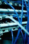Close-Up of Networking Cables    Stock Photo - Premium Rights-Managed, Artist: Puzant Apkarian, Code: 700-00162414