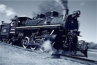 steam engine - Locomotive in Motion Stock Photo - Premium Rights-Managednull, Code: 700-00162872