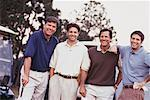 Portrait of Golfers    Stock Photo - Premium Rights-Managed, Artist: Kevin Dodge, Code: 700-00163043