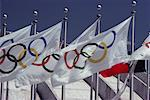 Olympic Flags    Stock Photo - Premium Rights-Managed, Artist: Roland Weber, Code: 700-00163732