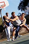 Men Playing Basketball    Stock Photo - Premium Rights-Managed, Artist: Kevin Dodge, Code: 700-00163940