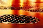 Sewer Grate on Street    Stock Photo - Premium Rights-Managed, Artist: Guy Grenier, Code: 700-00164027