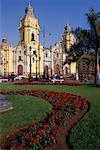 Lima Cathedral Lima, Peru    Stock Photo - Premium Rights-Managed, Artist: Jeremy Woodhouse, Code: 700-00165974