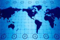 World Map with Time Zones    Stock Photo - Premium Rights-Managednull, Code: 700-00166567