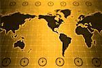 World Map with Time Zones    Stock Photo - Premium Rights-Managed, Artist: Boden/Ledingham, Code: 700-00166568