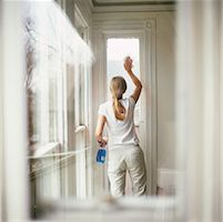 Woman Cleaning Window    Stock Photo - Premium Rights-Managednull, Code: 700-00167236