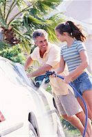 Father and Daughter Washing Car    Stock Photo - Premium Rights-Managednull, Code: 700-00168086