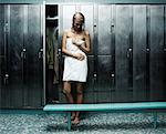 Woman in Locker Room    Stock Photo - Premium Rights-Managed, Artist: David Muir, Code: 700-00168253