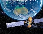Satellite over Australia    Stock Photo - Premium Rights-Managed, Artist: Rick Fischer, Code: 700-00168266