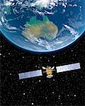 Satellite over Australia    Stock Photo - Premium Rights-Managed, Artist: Imtek Imagineering, Code: 700-00168267