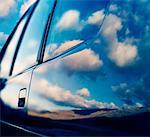 Sky Reflection on Car    Stock Photo - Premium Rights-Managed, Artist: Carl Warner, Code: 700-00170036