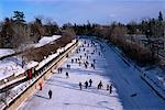 Ice Skating on the Rideau Canal Ottawa, Ontario, Canada