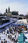 Ice Skating on the Rideau Canal Ottawa, Ontario, Canada    Stock Photo - Premium Rights-Managed, Artist: J. David Andrews, Code: 700-00170118