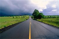 peter griffith - Storm Clouds Over Rural Road, Central Oregon, USA    Stock Photo - Premium Royalty-Freenull, Code: 600-00170958