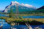 Mount Rundle, Vermilion Lakes, Banff National Park, Alberta, Canada    Stock Photo - Premium Royalty-Free, Artist: Gloria H. Chomica, Code: 600-00172498