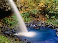 Upper Horsetail Falls, Columbia River Gorge, Oregon, USA    Stock Photo - Premium Royalty-Freenull, Code: 600-00174061