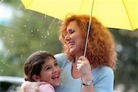 preteen shower pic - Mother and Daughter with Umbrella in the Rain    Stock Photo - Premium Rights-Managednull, Code: 700-00177533