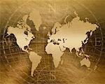Antique World Map    Stock Photo - Premium Rights-Managed, Artist: Nora Good, Code: 700-00177863