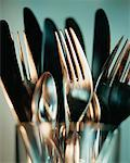 Silverware    Stock Photo - Premium Rights-Managed, Artist: Chris McElcheran, Code: 700-00178277