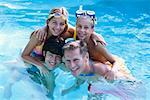 Family in Swimming Pool    Stock Photo - Premium Rights-Managed, Artist: George Shelley, Code: 700-00178445