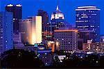 Oklahoma City Skyline at Night Oklahoma, USA    Stock Photo - Premium Rights-Managed, Artist: Jeremy Woodhouse, Code: 700-00181551