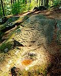 Indian Pictograph Bella Coola, British Columbia Canada    Stock Photo - Premium Rights-Managed, Artist: Hans Blohm, Code: 700-00182481