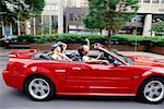 Teenage Girls in a Convertible
