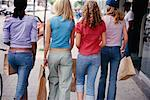 Teenage Girls Shopping    Stock Photo - Premium Rights-Managed, Artist: Ron Fehling, Code: 700-00183108