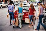 Teenage Girls Walking to Car