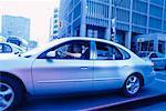 Teenage Girls Driving a Car
