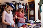 Teenage Girls Shopping    Stock Photo - Premium Rights-Managed, Artist: Ron Fehling, Code: 700-00183167