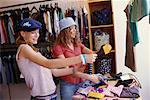 Teenage Girls Shopping    Stock Photo - Premium Rights-Managed, Artist: Ron Fehling, Code: 700-00183168