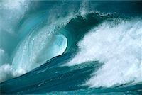 Ocean Wave Hawaii, USA    Stock Photo - Premium Rights-Managednull, Code: 700-00183221