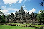 Exterior of Bayon Temple Angkor Thom, Cambodia    Stock Photo - Premium Rights-Managed, Artist: dk & dennie cody, Code: 700-00185215