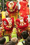 Lion Dance, Chinese New Year Singapore    Stock Photo - Premium Rights-Managed, Artist: R. Ian Lloyd, Code: 700-00186257