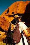 Woman with Orphaned Kangaroo By Ayers Rock Northern Territory, Australia    Stock Photo - Premium Rights-Managed, Artist: R. Ian Lloyd, Code: 700-00187149
