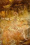 Aboriginal Art at Nourlangie Rock Northern Territory, Australia