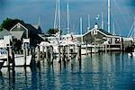 Overview of Harbour Nantucket Harbour, Nantucket Massachusetts, USA    Stock Photo - Premium Rights-Managed, Artist: Brian Sytnyk, Code: 700-00187594