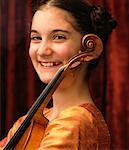 Portrait of Young Violinist    Stock Photo - Premium Rights-Managed, Artist: Curtis R. Lantinga, Code: 700-00187842