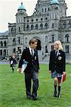 Students at Private School    Stock Photo - Premium Rights-Managed, Artist: Noel Hendrickson, Code: 700-00187863