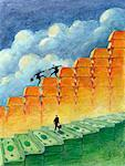 Illustration of Climbing the Corporate Ladder