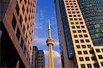CN Tower and Buildings Toronto, Ontario, Canada    Stock Photo - Premium Rights-Managed, Artist: Peter Griffith, Code: 700-00188662