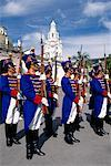 Military Procession Independencia Square Quito, Ecuador    Stock Photo - Premium Rights-Managed, Artist: Greg Stott, Code: 700-00189072