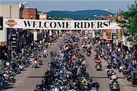 Harley Davidson Rally Sturgis, South Dakota, USA    Stock Photo - Premium Rights-Managednull, Code: 700-00189341