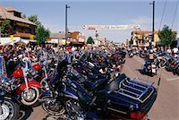 Harley Davidson Rally Sturgis, South Dakota, USA    Stock Photo - Premium Rights-Managednull, Code: 700-00189342