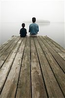 peter griffith - Father and Son on Dock    Stock Photo - Premium Rights-Managednull, Code: 700-00189493